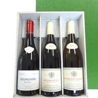 【送料無料】お酒 フランスワイン 赤白 3本セット ブルゴーニュ 赤ワイン 2本 ピノ・ノワール ムルソー 1本 アリゴテ ギフト箱入り
