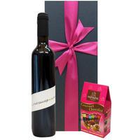 【ワインとスイーツのギフト】 赤ワイン チョコレート 南フラス 自然派 ビオワイン 辛口 500ml フランス産 チョコレート アソート 3種 プレゼント お酒のギフト(OG95-209322)