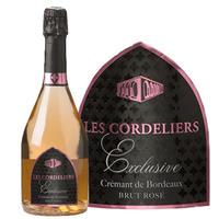 フランス シャンパン製法  ロゼスパークリング 「レ・コードリエ・ロゼ」 辛口  750ml  クレマン・ド・ボルドー カベルネフラン メルロー(51BJACRNVC)