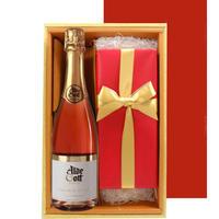 送料無料【ロゼワインとスイーツのギフト】 ドイツの辛口スパークリングワイン750mとオレンジケーキのセット 母の日 誕生日 プレゼントラッピング付き のし可(OG45-444017)