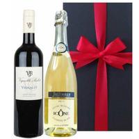 【ワインギフト】 フランス 赤ワイン スパークリング 750ml×2本 「キュヴェ・イコン・ブランシェ」 やや甘口 「ヴィニャレ・ルージュ」 辛口