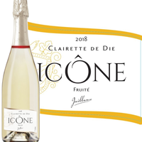 ■簡易包装■【スパークリングワイン】フランス 「イコン・キュヴェ・ブランシュ」2018年 コート・デュローヌ AOCクレレット・ド・ディ750ml(OG05-010269)