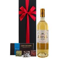 ソーテルヌワイン  チョコレート ギフト フランス甘口 白ワイン 貴腐ワイン 375ml ハーフボトル LES CACAOS ボンボンショコラ3種(OG15-RP13CC3)