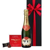 【送料無料】母の日 プレゼント シャンパン チョコレート ギフト ワインとお菓子 フランス 有名ブランド 「マキシム・ド・パリ」 ハーフボトル 辛口 375ml