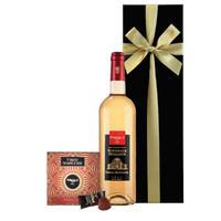 《父の日》【ワインとスイーツのギフト】「マキシム・ド・パリ」白ワイン「ラ・デュッシェス・デュ・プリウレ」375ml「トリュフチョコレート」