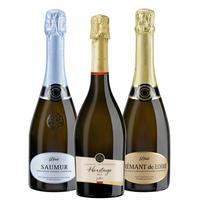 《おうち飲み》【お得なワインセット】スパークリングワイン 3本セット フランス ジャイアンス ワイン飲み比べ ホームパーティー 750ml×3 簡易包装(OG00-JACSB3)