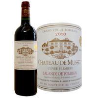 ラランド・ド・ポムロールの赤ワイン「シャトー・デュ・ミュッセ」 2008年 750ml