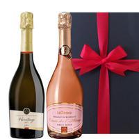 送料無料【ギフト】シャンパン製法 スパークリングワイン2本セットフランス ジャイアンス 「クレマン・ド・ボルドー」 白 ロゼ 辛口 750ml  お祝い お礼 内祝い お返し(OG99-377378)