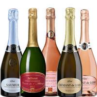 《おすすめ スパークリングワイン》 【ワイン5本セット】フランスのスパークリングワイン飲み比べ5本セット750ml×5 簡易包装(OG00-JABCL5)