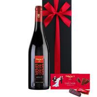母の日【赤ワインとスイーツのギフト】有名ブランド マキシム・ド・パリの赤ワインとミルクチョコレート フランス メルロー 100% 750ml(OG15-556164)