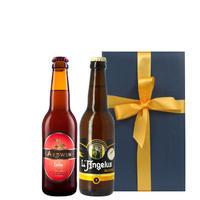 父の日☆ 送料無料【ビール2種のギフト】フランスビール 330ml×2 プレゼント 誕生日 男性 両親 義母 義父 退職祝い(OG96-ANARFD )