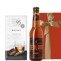 ビールとチョコレートのギフトセット ウィスキー風味のミルクチョコレートとフランスのクラフトビール 330ml