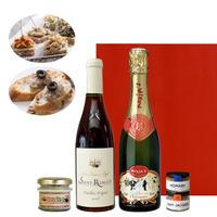 【ワインとグルメのギフト】赤ワイン&シャンパン 375ml×2本 テリーヌ ブルゴーニュ 赤 辛口 マキシム・ド・パリ( OG15-150134)
