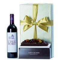 父の日ギフト 赤ワイン チョコレートケーキ ギフト プレゼント スイーツ ボルドー 「シャトー・リスル・フォール」 2009 東京 LES CACAOS ケーキ(OG15-109CCF)