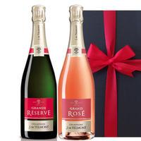 【送料無料】シャンパン 2本 ギフトセット フランス ロゼ ブリュット 辛口 750ml×2 結婚祝い 結婚記念日 贈り物 詰め合わせ のし可(OG95-157156)