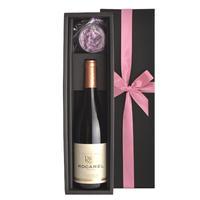 母の日2021《人気》【赤ワインとソープフラワーのギフト】フランス プロヴァンスの赤ワイン メゾン・トラミエ 「ロカレル・ルージュ」750ml ギフト箱入り(OG35-RORMCS)