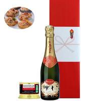 《新生活 プレゼント 女性》【ワインとグルメのギフト】シャンパン「マキシム・ド・パリ・ブリュット」375ml カモと赤いベリーのテリーヌ シャンパン風味(OG15-MPCBP2)