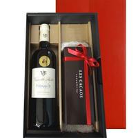 送料無料 父の日プレゼント 焼菓子 赤ワイン ギフト 南フランス   ラングドック ルーション 辛口 750ml LES CACAOS 洋菓子 5個 プレゼント(OG15-112410)