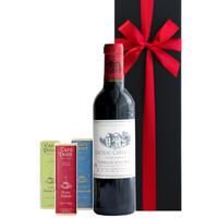 《母の日》【ワインとスイーツのギフト】フランス ボルドーの赤ワイン「シャトー・シェーン・ヴュ」 375mlと3種のベルギーチョコレート