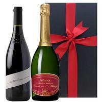 夏ギフト スパークリングワイン&赤ワイン 2本セット シャンパン製法の「クレマン・ド・ボルドー」オーガニック赤ワイン「カルマン・ブリアン」 お祝い お礼 お返し(OG99-377308)