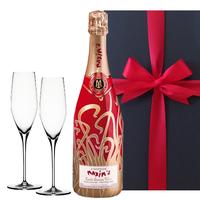 【送料無料】シャンパン シャンパングラス ギフトセット フランス マキシム・ド・パリ シャンパーニュ ブラン・ド・ノワール キュヴェ・アンネ・フォール シュピゲラウ 結婚 誕生日 プレゼント