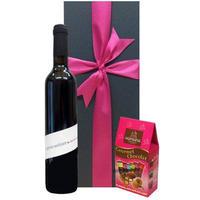 ビオワインとチョコレートギフト 赤ワイン フランス コート・デュ・ローヌ  アーモンドチョコレートアソート AOCヴァケラス ル・クロ・デュ・カヴォー オーガニック 500ml ギフト箱入り