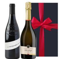 《紅白ワインセット》【ワインギフト】フランスボルドーのスパークリングワイン「キュヴェ・ド・ラベイ・ブリュット」コート・デュ・ローヌ AOC ヴァッケラス「レ・バトリエ 」(OG99-377308)