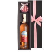 《女性への贈り物》ロゼワインとカーネーションのソープフラワー フランス プロヴァンス 750ml 花 バスソープ ギフト箱入り メッセージカード無料 女性 プレゼント(OG35-MRPPCS)