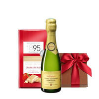 スイーツ ギフト ミニボトル フランス スパークリングワイン 375ml イチゴのホワイトチョコレート 誕生日 プチギフト