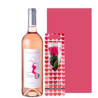《お誕生日プレゼント》【ワインとお花のギフト】南フランスのロゼワイン「フレンチ・タッチ・グルナッシュ」とプリザーブドフラワー(OG35-215006)