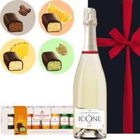 《お中元》【ワインとスイーツのギフト】フランスのスパークリングワイン「キュヴェ・イコン」2018年とドイツ「ニーダーエッガー」のマジパン・チョコレート・アソート(OG15-SJINSA)