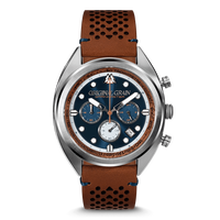 The Grainmaster Chronograph 45mm - Mahogany Silver