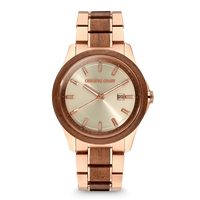 The Classic 43mm - Walnut RoseGold