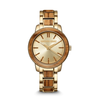 The Barrel 2.0 36mm - Zebrawood Gold