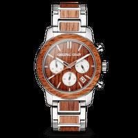 Barrel Chronograph 42mm - Mahogany Silver