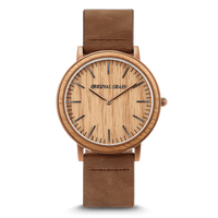 The Minimalist 40mm - Whiskey/Wood Dial