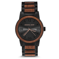 The Barrel 42mm - Black/Sapele Barrel