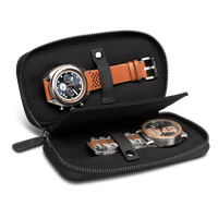 The Watch Case/2pc - The LEATHER  WATCH CASE (Black Leather)