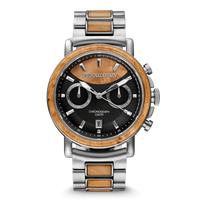 The Alterra Chronograph 44mm - Burlwood Silver