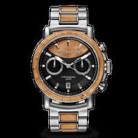 Alterra Chronograph 44mm - Burlwood Silver