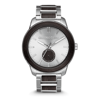 The Barrel 2.0 46mm -  The BLACKWOOD SILVER/24HR WOOD SUBDIAL