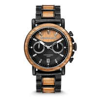 The Alterra Chronograph 44mm - Koa Stonewashed