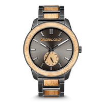 The Barrel 2.0 46mm - Koa Stonewashed Steel/24HR WOOD SUBDIAL