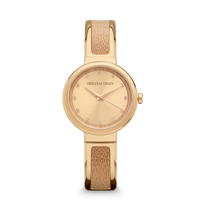 The Bangle 32mm - Bamboo Wood Gold