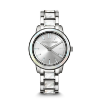The Barrel 2.0 36mm - Mother of Pearl Silver