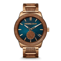 The Barrel 2.0 46mm - Sapele Bronze/24HR WOOD SUBDIAL