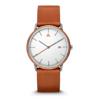 The Modern MNML 40mm - Mahogany Steel