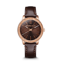 The Barrel 2.0 36mm - Cork RoseGold Leather