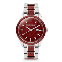 The Classic 43mm - Rosewood Chrome Silver