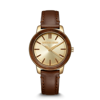 The Barrel 2.0 36mm - Ebony Gold Leather